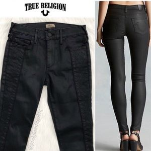 True Religion Halle Super Skinny Coated Night